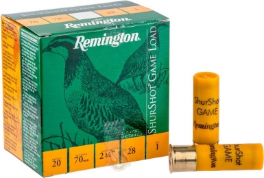 Набій Remington Shurshot Load Game кал. 20/70 дріб №0 28 г