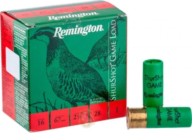 Набій Remington Shurshot Load Game кал. 16/67 дріб №4 28 г