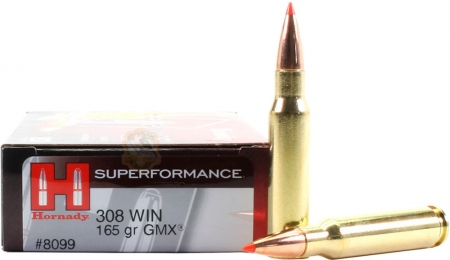 Набій Hornady Superformance кал .308 Win куля GMX маса 165 гр (10.7 г)