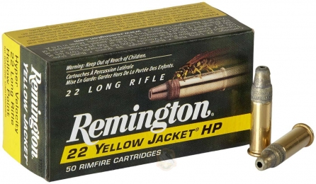 Набій Remington Yellow Jacket Hyper Velocity кал .22 LR куля Hollow Point 33 гр